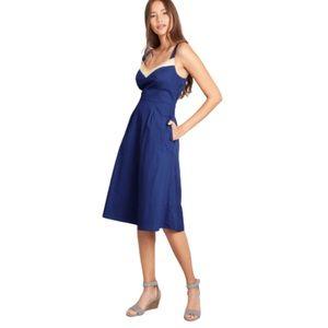 ModCloth Verve Confirmed Cotton A-Line Dress